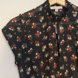 Don't ask why floral blouse